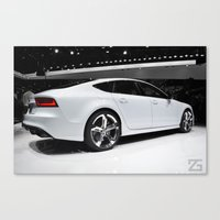 audi Canvas Prints featuring Audi A7 (2013 NAIAS) by ZGphotography