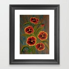 Pansies-2 Framed Art Print