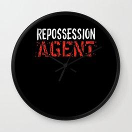 Repossession Agent Wall Clock