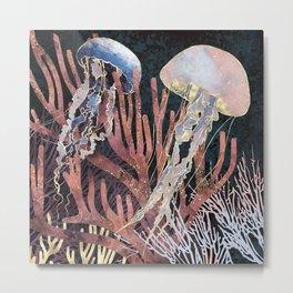 Metallic Coral Metal Print