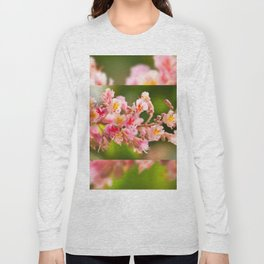Aesculus red chestnut tree blossoms Long Sleeve T-shirt