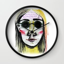 Head Shot #4 Wall Clock