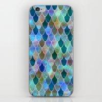 mermaid iPhone & iPod Skins featuring Mermaid by Schatzi Brown