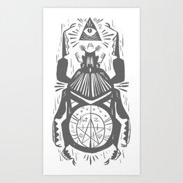 Magic beetle, all-seeing-eye Art Print