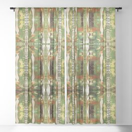 Out there in the woods, I feel peace........ Sheer Curtain