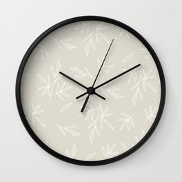 Branched Olives Sketch Wall Clock