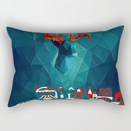 In the ocean Rectangular Pillow