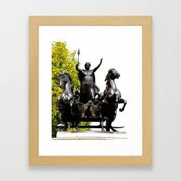 Boudicca and Charriot Framed Art Print