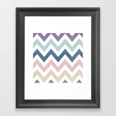 MUTED CHEVRON {COOL TONES} Framed Art Print