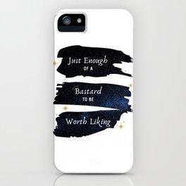 Just Enough Of A Bastard — Good Omens Fanart iPhone Case