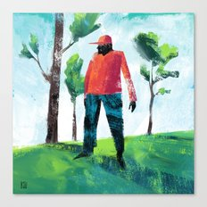 Forest Man Canvas Print