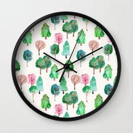 Little Trees Wall Clock