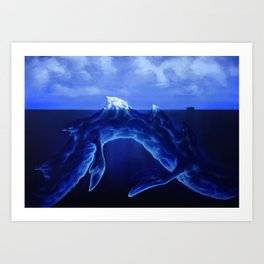 Iceberg Dragon Art Print