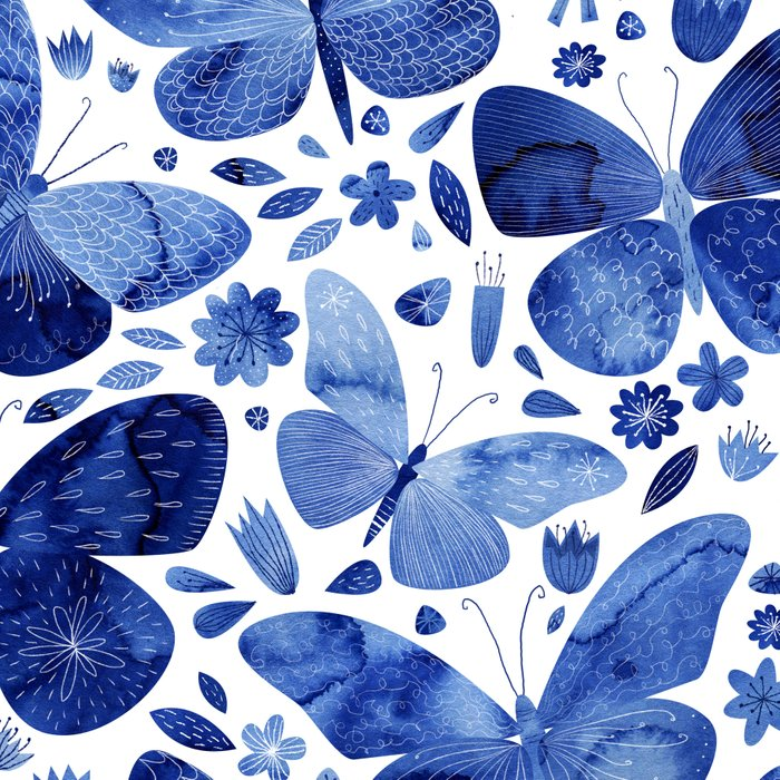Blue Butterflies Leggings