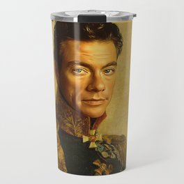 Jean Claude Van Damme - replaceface Travel Mug