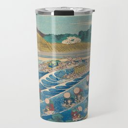 Katsushika Hokusai - Fuji Seen from Kanaya on the Tōkaidō Travel Mug