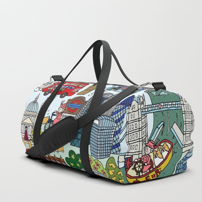The Queen's London Day Out Duffle Bag
