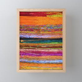 Indian Colors Framed Mini Art Print