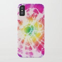 Tie-Dye Sunburst Rainbow iPhone Case
