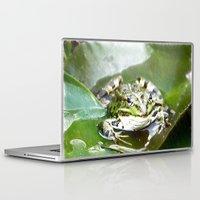 frog Laptop & iPad Skins featuring frog by Karl-Heinz Lüpke