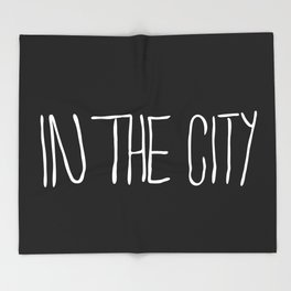 In The City Throw Blanket