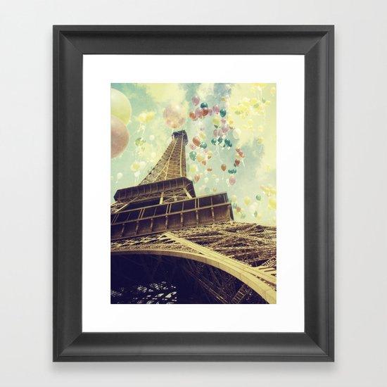 Paris is Flying Framed Art Print