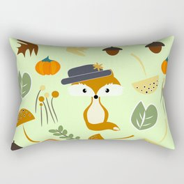Cute fox in autumn Rectangular Pillow