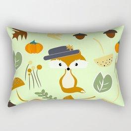 Cute fox in autumn Rectangular Pillow