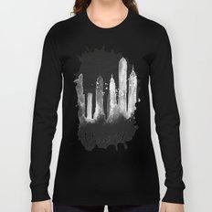 Black New York Skyline Long Sleeve T-shirt