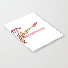 En France, Nude female dancer, NYC artist Notebook