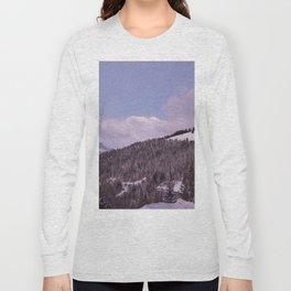 Purple Moutain Mont Blanc Long Sleeve T-shirt