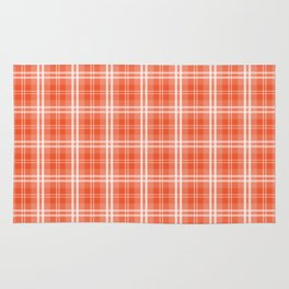 Spring 2017 Colors Flame Orange Red Tartan Plaid Rug