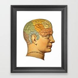 Phrenology | A Picture of Good Health circa 1881 Framed Art Print