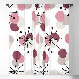 Atomic Age Molecules Starbursts Pink Blackout Curtain