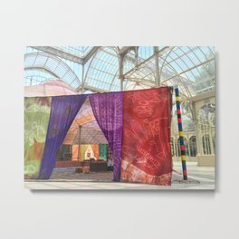 MODERN GLASS VS COLOURFUL NOMADS Metal Print