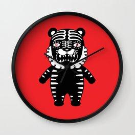 Kuro the Black Tiger Wall Clock