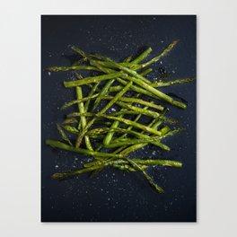Grilled Asparagus Canvas Print