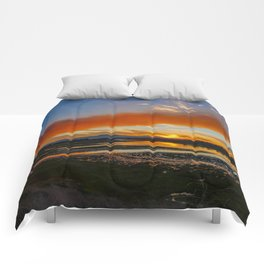 Smoky Sunrise Over the Back Bay Comforters