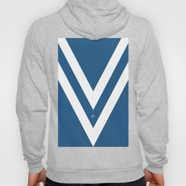 Blue V Abstract Retro Design Hoody