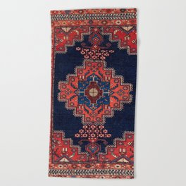Afshar Kerman South Persian Rug Print Beach Towel