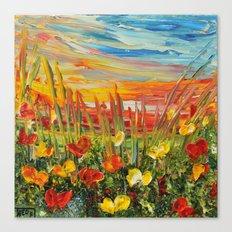 SUNSET MEADOW II Canvas Print