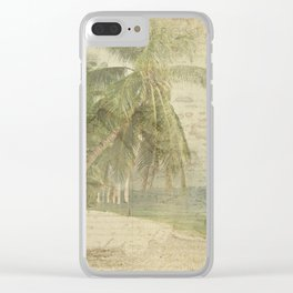 Postcard From The Tropics Clear iPhone Case