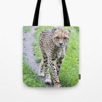 jaguar Tote Bags featuring Jaguar by Veronika