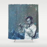 fullmetal alchemist Shower Curtains featuring THE ALCHEMIST by Julia Lillard Art