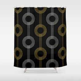 GUITAR IN ABSTRACT GS  (art deco) Shower Curtain