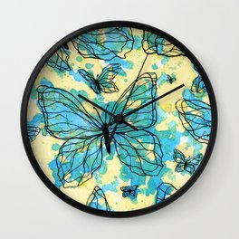 MARIPOSAS EN TINTA Wall Clock