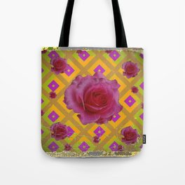 GRUNGY ANTIQUE PINK ROSE PATTERN Tote Bag