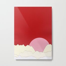 Sunset Styria Metal Print