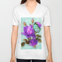 Victoria in Purple Unisex V-Neck