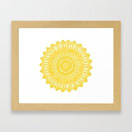 Sunshine-Yellow Framed Art Print